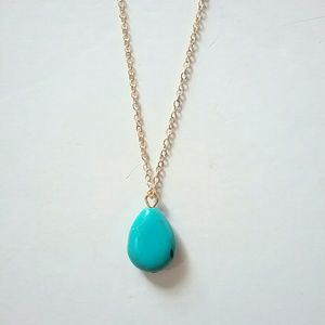 💕4/$25💕Gold & Turquoise Simple Necklace